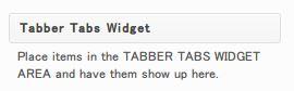 Tabber Tabs Widget2