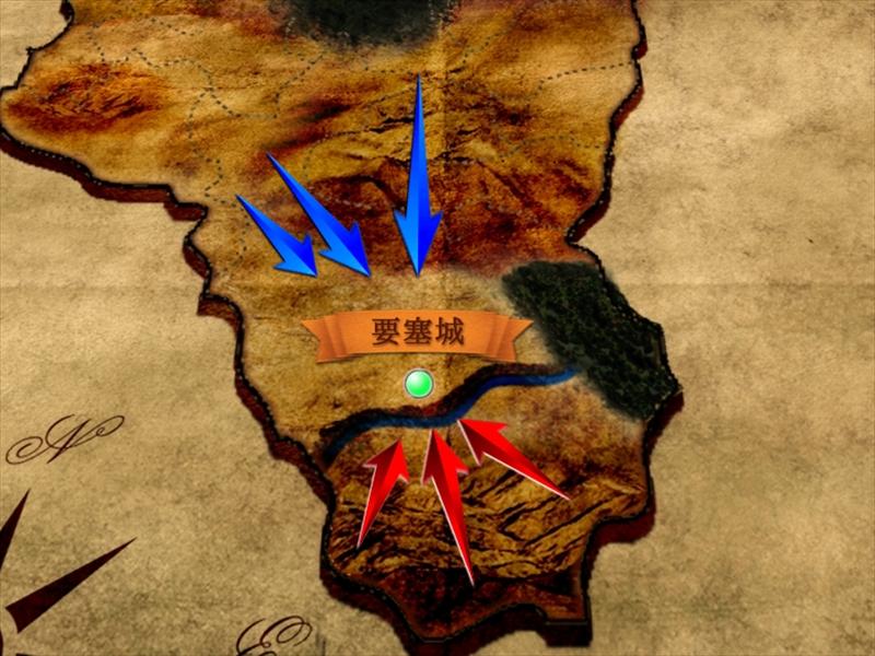 地図の戦況表現